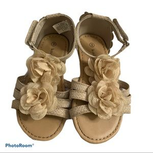 Koalakids Girl Toddlers Size 8 Sandals Flower